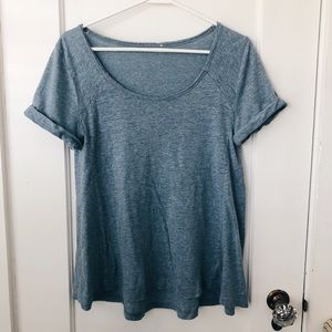 Sky blue flowy top